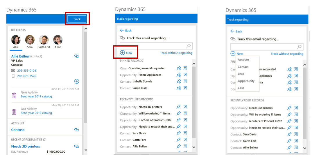 Dynamics 365 App for Outlook: Add Entities to the List of