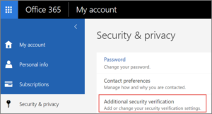Multi-Factor Authentication and App Passwords for Office 365